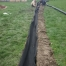 French Drain With Commercial Filter Fabric