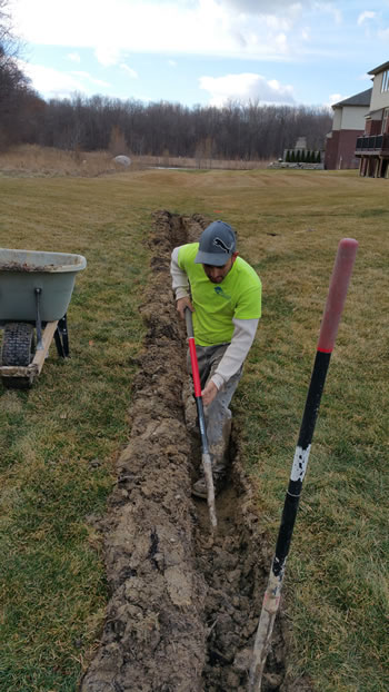 Michigan French Drain Construction