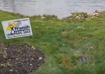 Oakland Township, MI French Drain System Completed