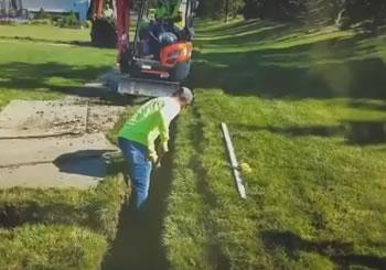 Trencher vs Excavator - French Drain Michigan