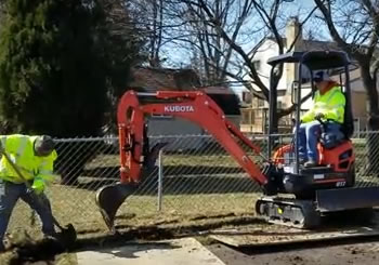Always Use an Excavator When Installing a French Drain in MI