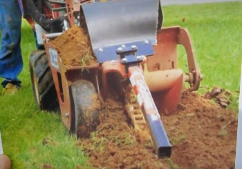 Do Not Use a Trencher for French Drain
