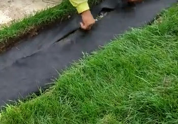 Filter Fabric Installation - French Drain