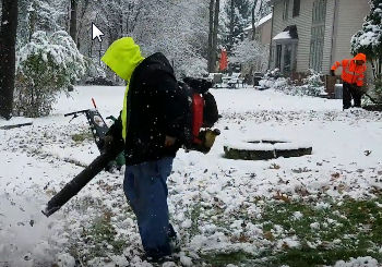 How to Install Underground Drainage System with Snow on Ground