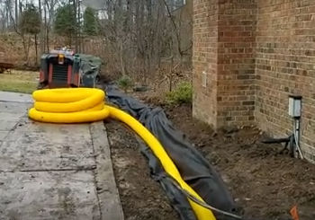 Drain Sheet Water with Open French Drain - Rochester Hills