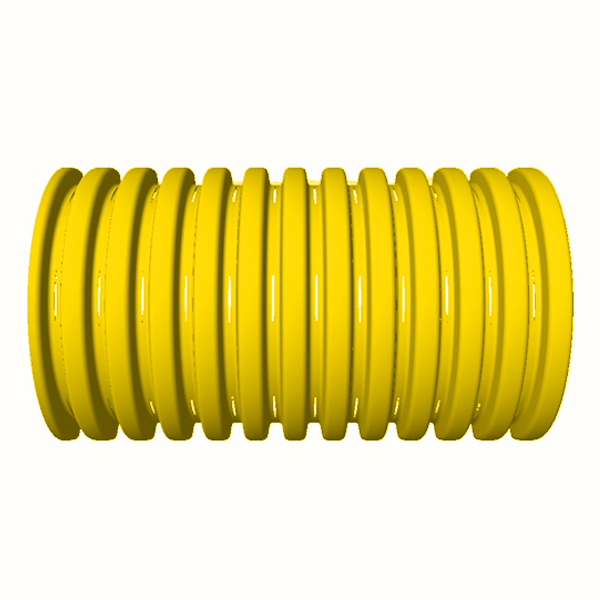 "6"" Knife Cut Premium Yellow Corrugated Drain Pipe 100' Roll"