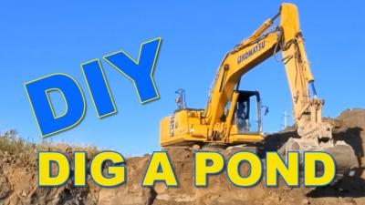 How to dig a pond - DIY