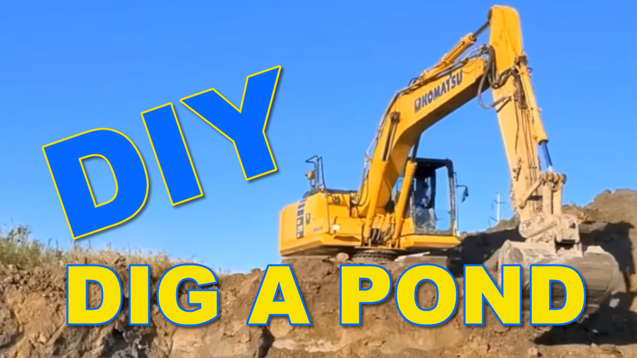 How to dig a pond - DIY