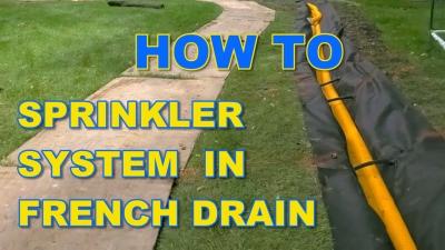 Sprinkler System in French Drain