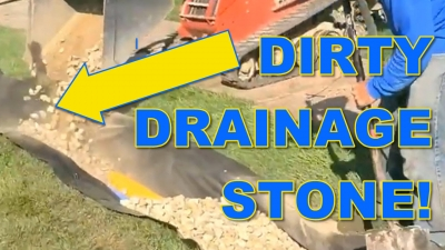 Dirty Drainage Stone