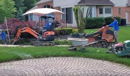 Yard Drainage Installation - DIY