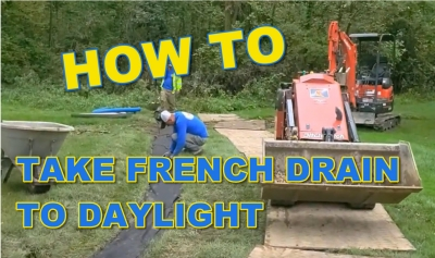 How to Take French Drain to Daylight