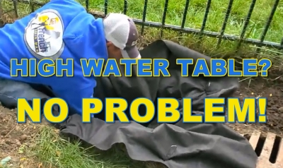 What to do when the water table is too high?