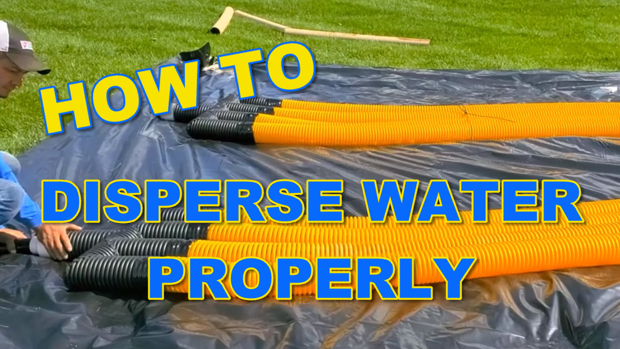 How to Disperse Yard Water Properly