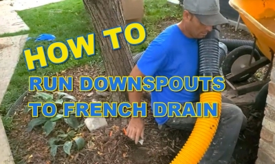 How to Run Downspout to French Drain