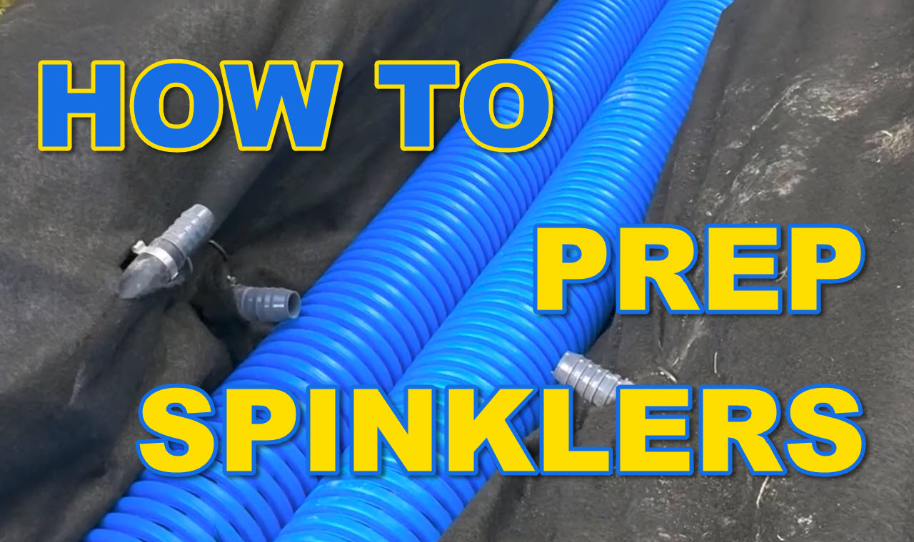 How to Prep Sprinkler Lines in French Drain