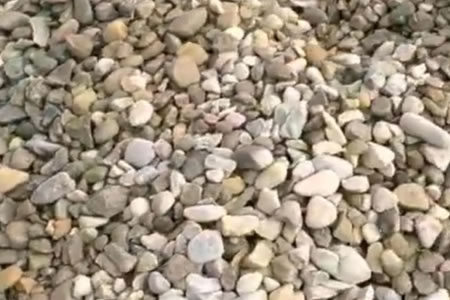 Pea Stone in French Drain Creates Less Void
