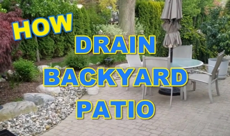 How to Drain Water Off Backyard Patio