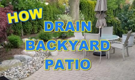 How to Drain Water Off Backyard Patio