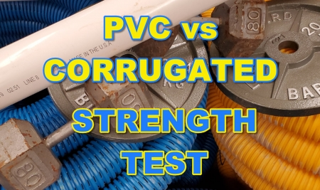 PVC Schedule 40 vs Corrugated Pipe - Strength Test