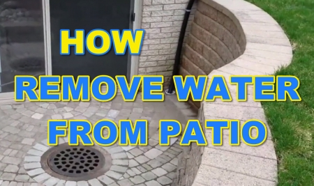 Remove Water from Patio with a Lift Station