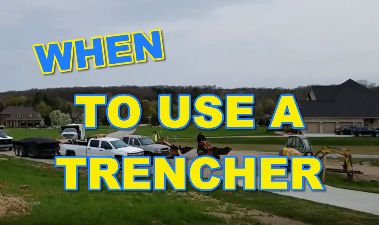 Trencher for a French Drain