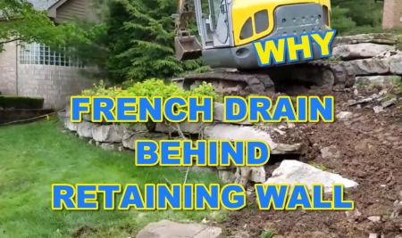 French Drain behind Retaining Wall