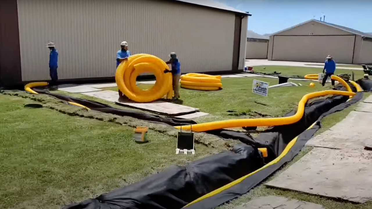 Airport Drainage System Installation: Sump System and Roof Runoff
